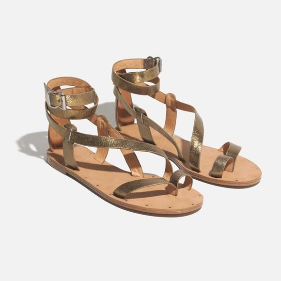 2babd29b5cae Madewell Shoes - Madewell Allie Ankle Wrap Gladiator Leather Sandal